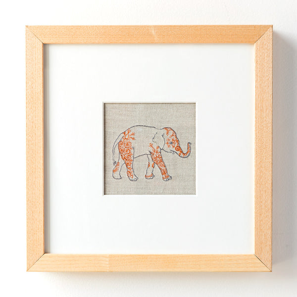 indian elephant framed art-baby - nursery decor-coral & tusk-Default Title-k colette