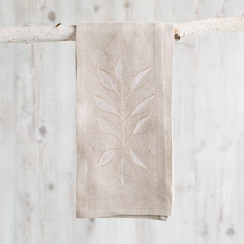 leaves tea towel-kitchen & dining - tea towels & aprons-coral & tusk-Default Title-k colette