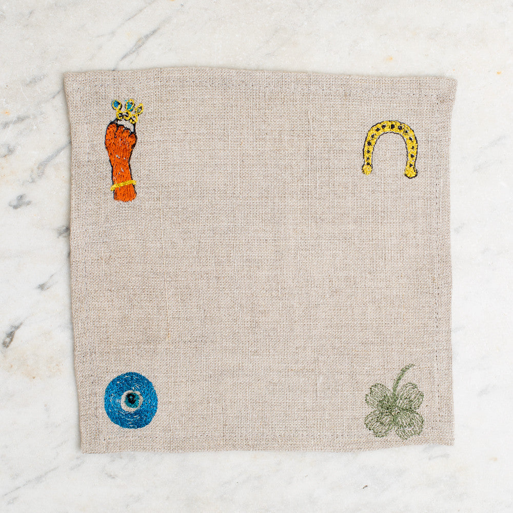 lucky charms cocktail napkin set-kitchen & dining - table linens-coral & tusk-k colette