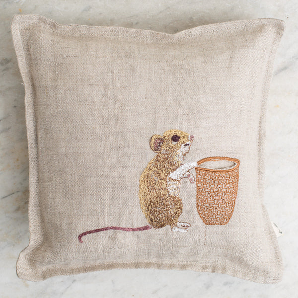 mouse tooth fairy pillow-baby - nursery decor-coral & tusk-k colette