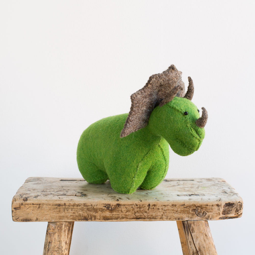 triceratops door stopper-baby - nursery decor-fiona walker-k colette