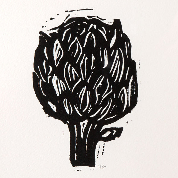 'artichoke' linocut print-art & decor - paintings & prints - thank-hugo guinness-k colette