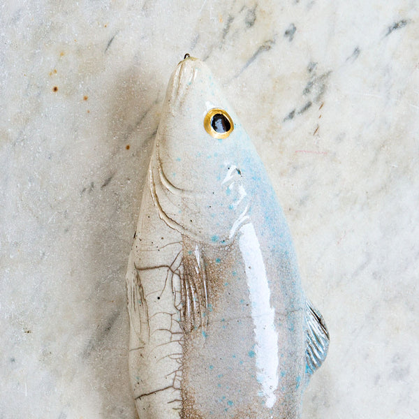 bass ceramic fish-art & decor - decorative objects-atelier du douire-Default-k colette