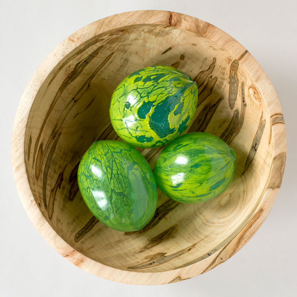 blown glass egg, lime & emerald-art & decor - objets-lbk studio-k colette