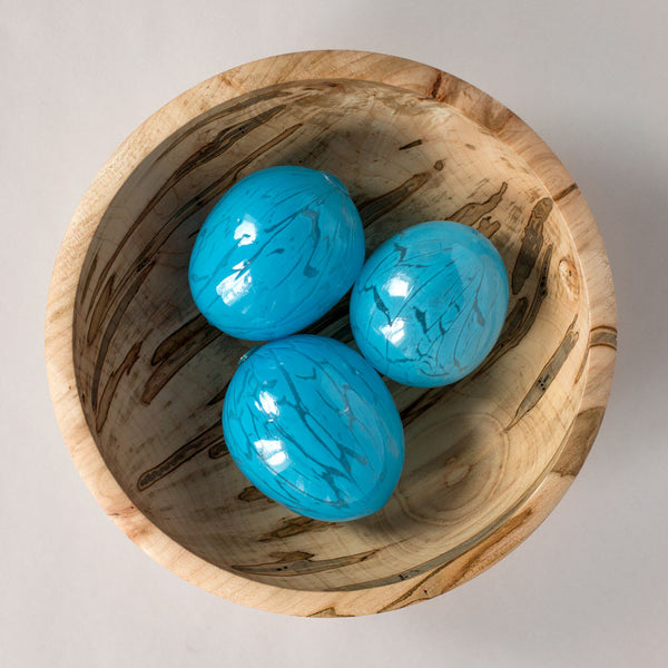 blown glass egg, turquoise & light blue-art & decor - decorative objects-lbk studio-Default-k colette