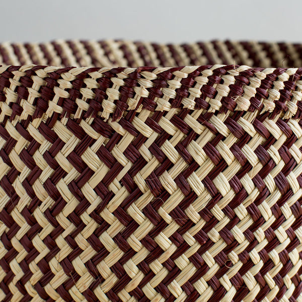 zig zag iraca basket, toast & brown-art & decor - decorative objects - sale-guanábana-Default-k colette
