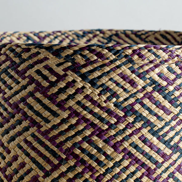 africa iraca basket, navy & purple-art & decor - decorative objects-guanábana-Default-k colette