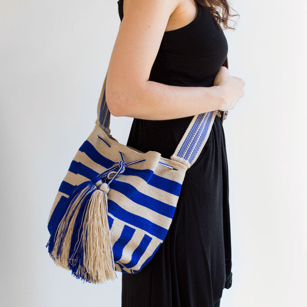 cobalt stripe wayuu bag-accessories - handbags & clutches-guanábana-Default-k colette
