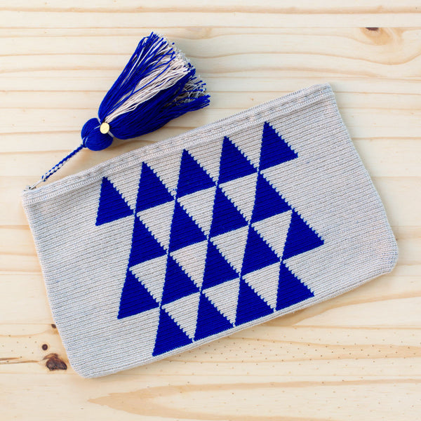tribal wayuu clutch, cobalt-accessories - handbags & clutches-guanábana-Default-k colette