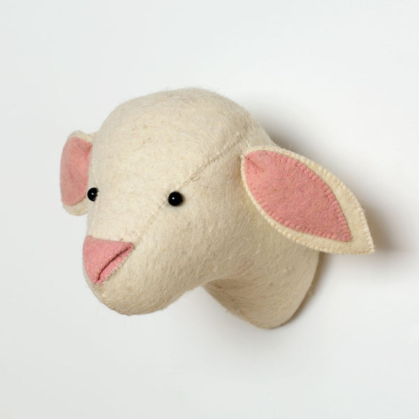 pink lamb head-baby - nursery decor-fiona walker-k colette