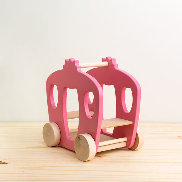 horse and carriage wooden push toy-baby - toys-manny & simon-Default Title-k colette