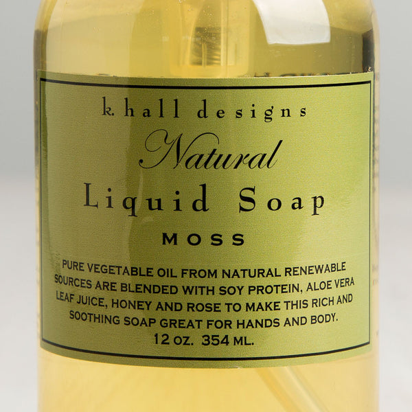 moss liquid hand soap-apothecary - soaps & lotions-k hall designs-k colette