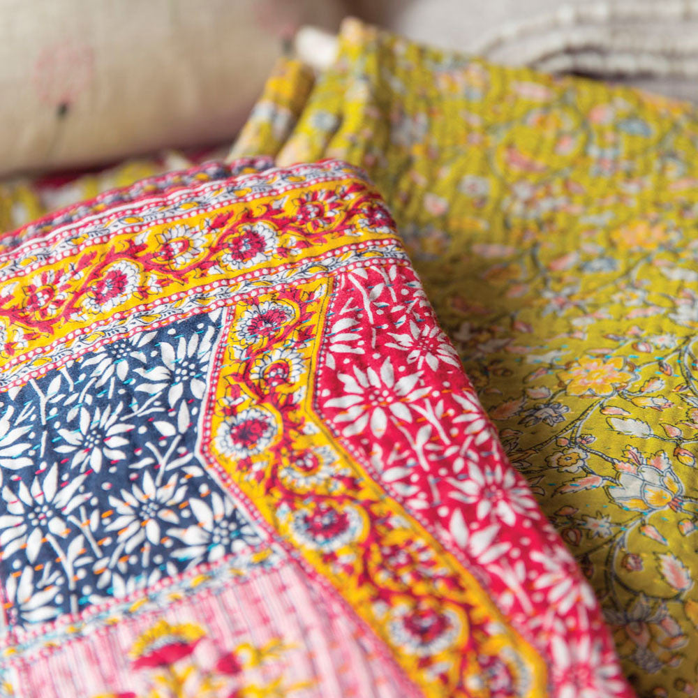 kantha throw-art & decor - throws - vintage textiles - ooak-jeanette farrier-k colette