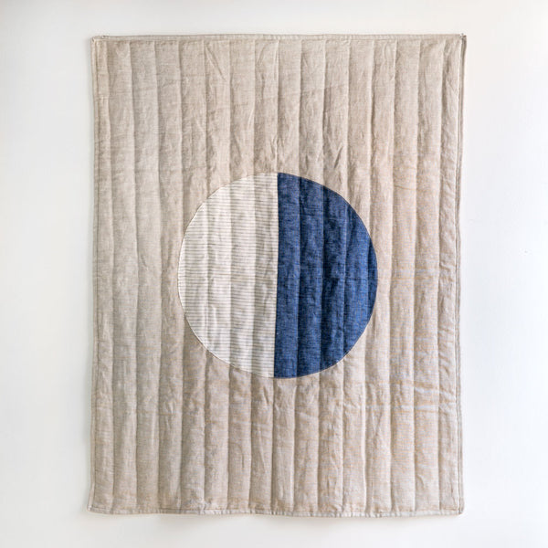 thin stripe moon baby quilt-baby - blankets & swaddles-caroline z hurley-k colette