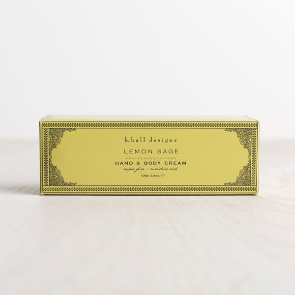 lemon sage hand & body cream-apothecary - soaps & lotions-k hall designs-Default-k colette