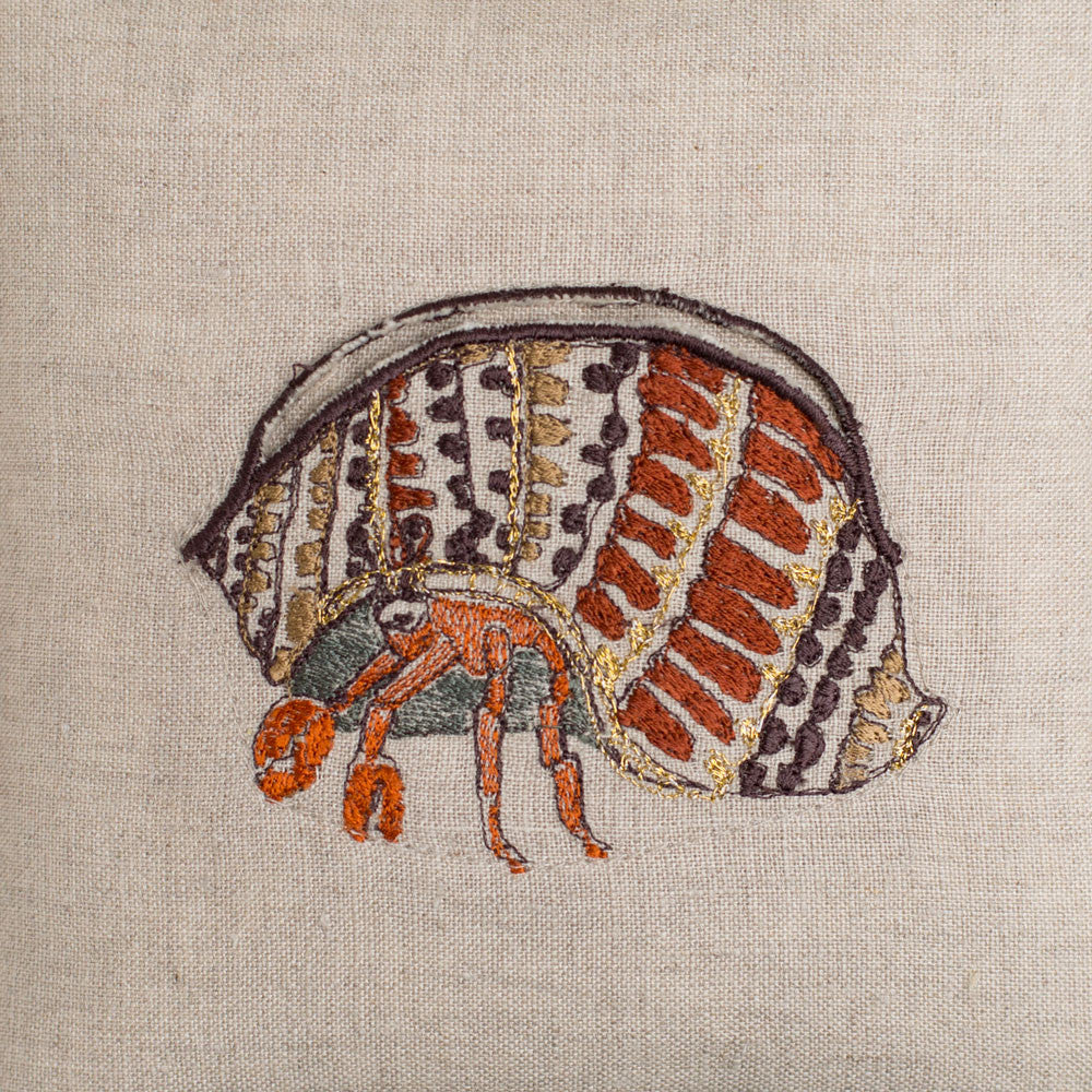 hermit crab treasure pillow-bed & bath - art & decor - pillows-coral & tusk-k colette