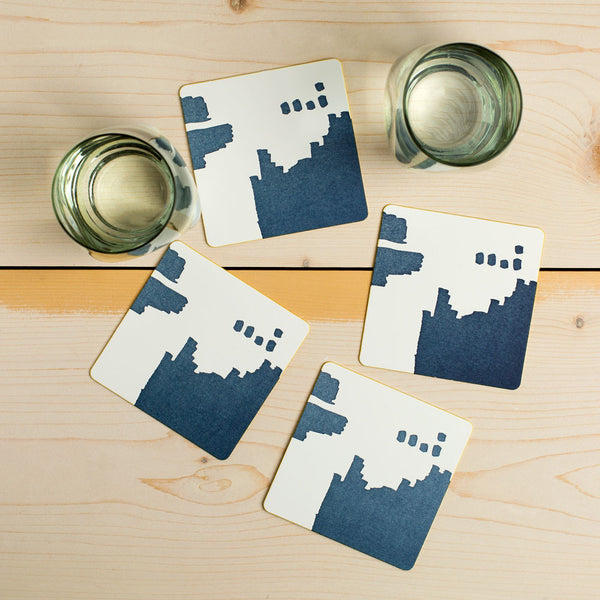 abstract dot coaster set-kitchen & dining - bar & drinkware - paper goods-moglea-k colette