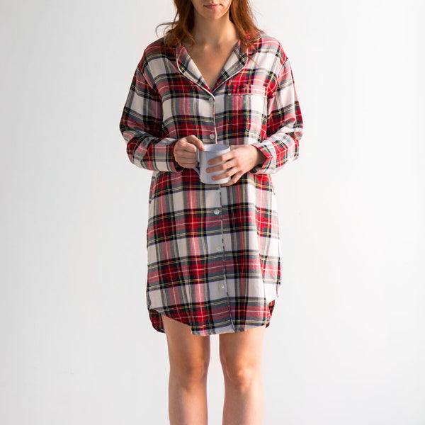 aberdeen nightshirt-textiles - pajamas-taylor linens-small-k colette