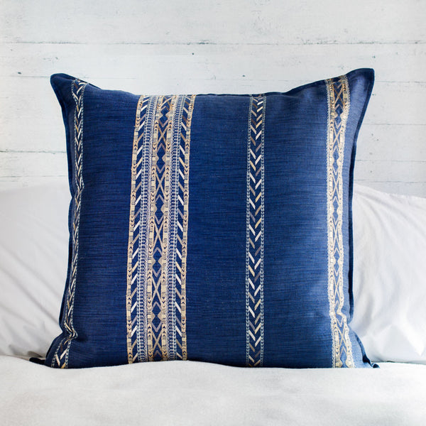 limited edition hali indigo euro pillow-textiles - pillows-coral & tusk-Default-k colette