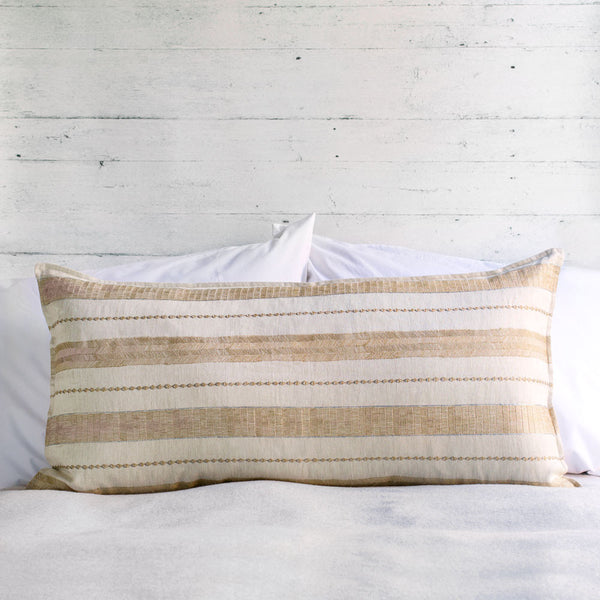 limited edition riverbed sand lumbar pillow-textiles - pillows-coral & tusk-Default-k colette