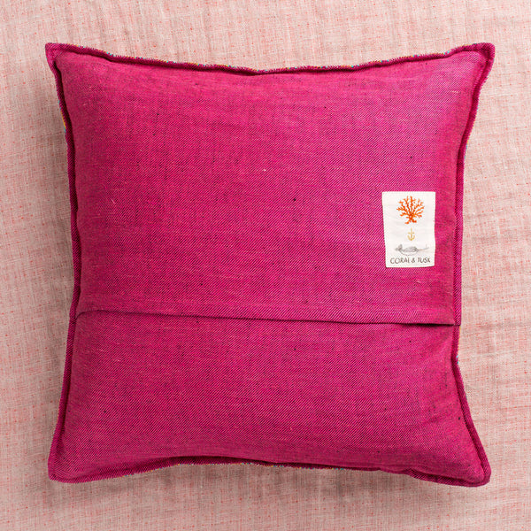 limited edition ridgeline fuchsia pillow-textiles - pillows-coral & tusk-Default-k colette