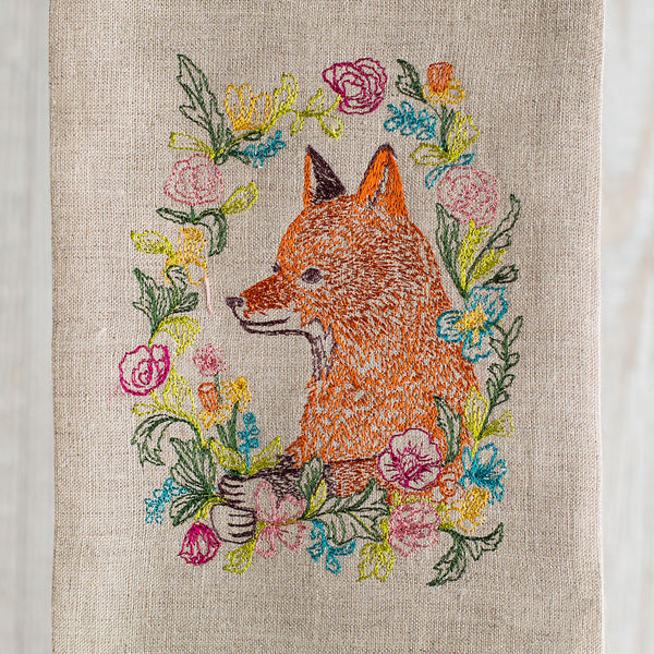 garland fox tea towel-kitchen & dining - tea towels & aprons-coral & tusk-k colette
