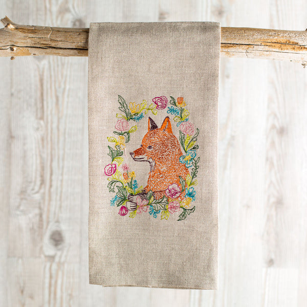 garland fox tea towel-kitchen & dining - tea towels & aprons-coral & tusk-Default-k colette