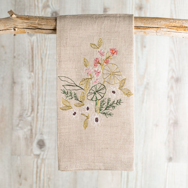 meadow blossoms tea towel-kitchen & dining - tea towels & aprons-coral & tusk-k colette