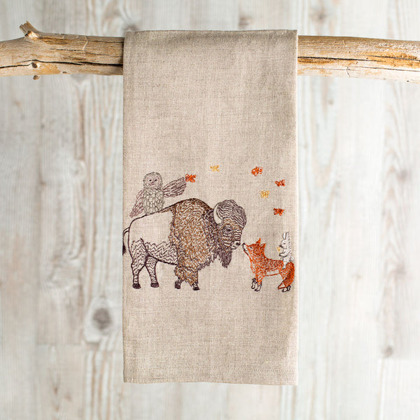 unity tea towel-kitchen & dining - tea towels & aprons-coral & tusk-Default-k colette
