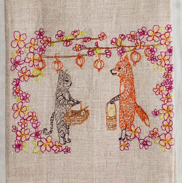 spring celebration tea towel-kitchen & dining - tea towels & aprons-coral & tusk-Default-k colette