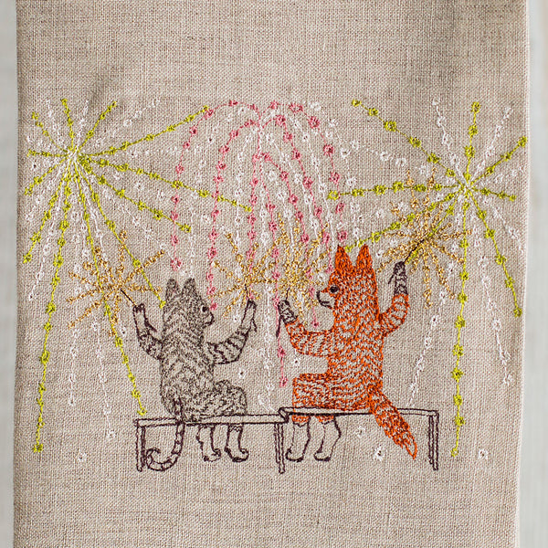 summer celebration tea towel-kitchen & dining - tea towels & aprons-coral & tusk-Default-k colette