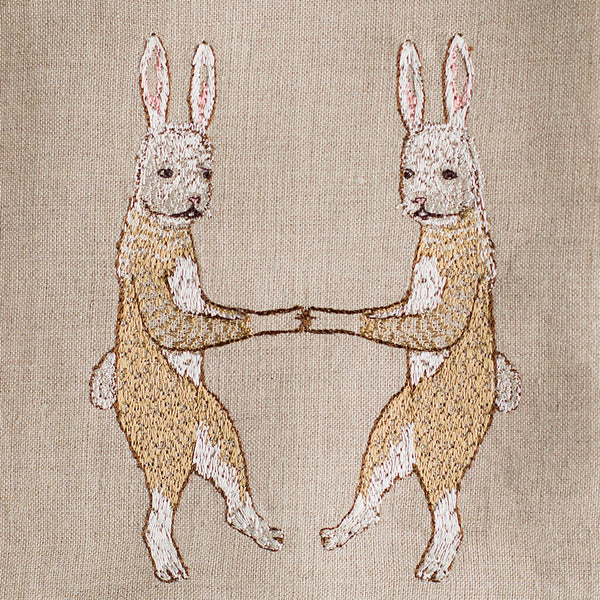 bunny love tea towel-kitchen & dining - tea towels & aprons-coral & tusk-Default-k colette