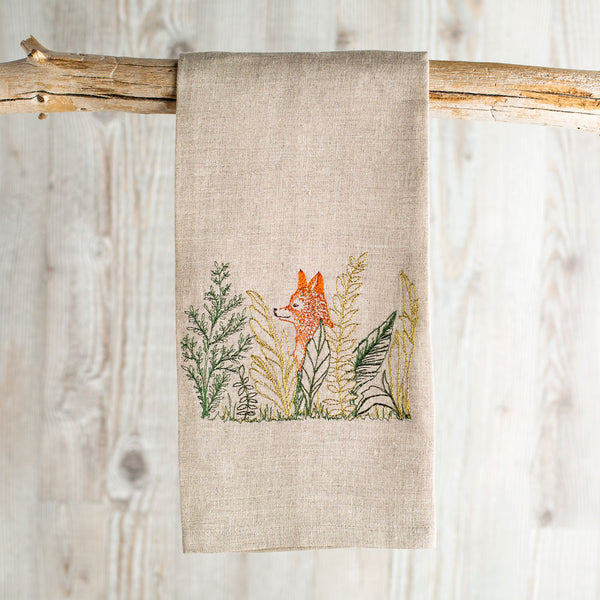 fox meadow tea towel-kitchen & dining - tea towels & aprons-coral & tusk-Default-k colette