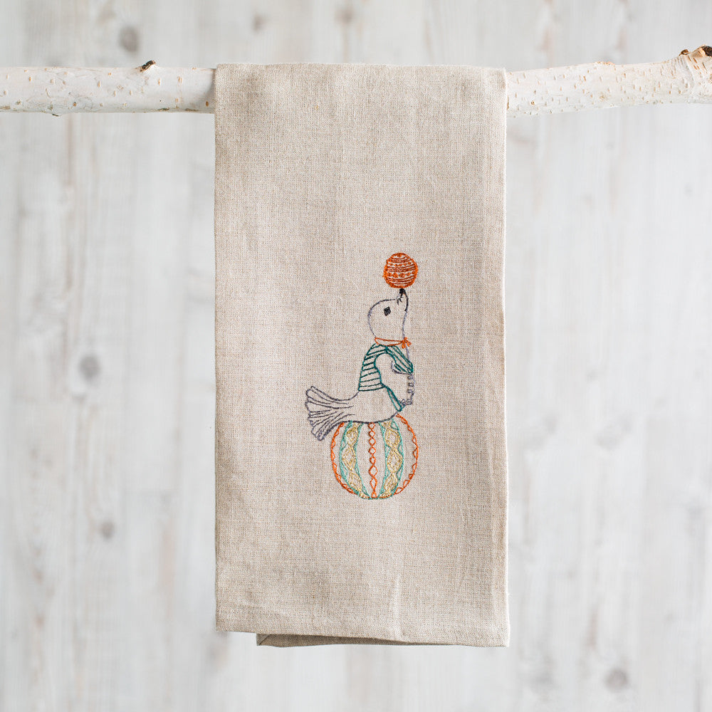 circus seal tea towel-kitchen & dining - tea towels & aprons-coral & tusk-k colette