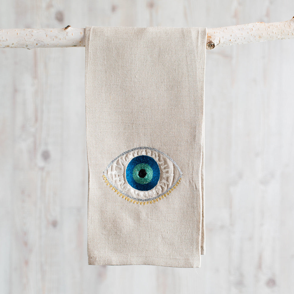 evil eye tea towel-kitchen & dining - tea towels & aprons-coral & tusk-k colette