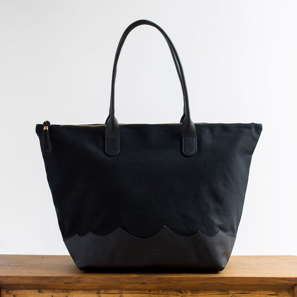 wave weekender bag, black-accessories - handbags & clutches-eklund griffin-Default-k colette