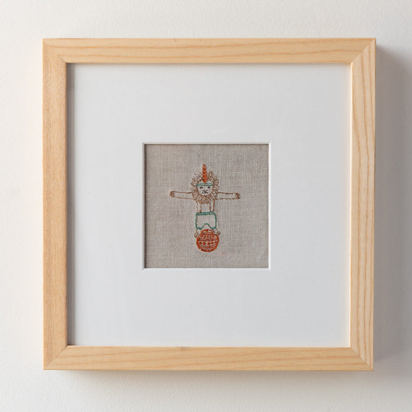 circus lion framed art-baby - nursery decor-coral & tusk-k colette
