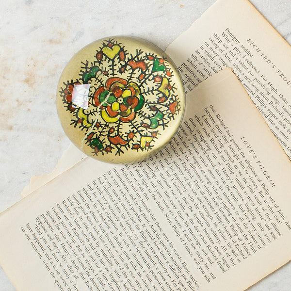 indian drawings dome paperweight