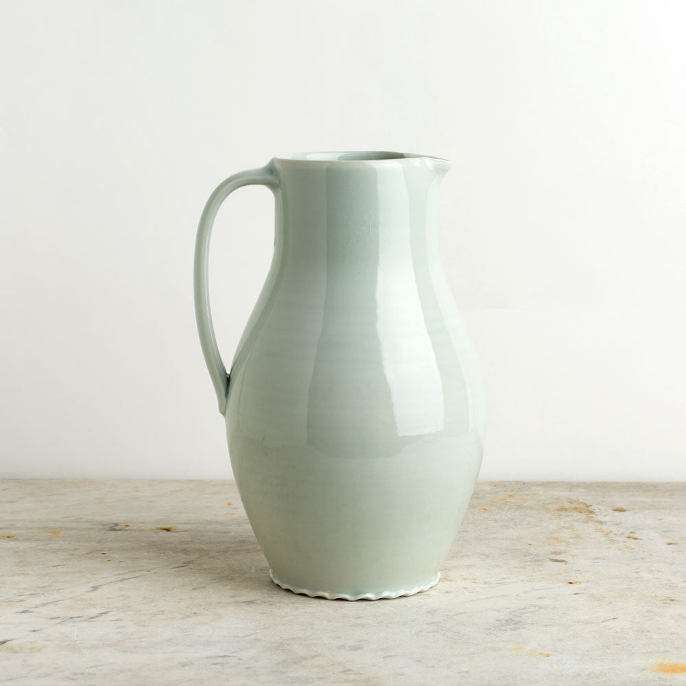 porcelain pitcher, plain-kitchen & dining - serveware-autumn cipala pottery-celadon-medium-k colette