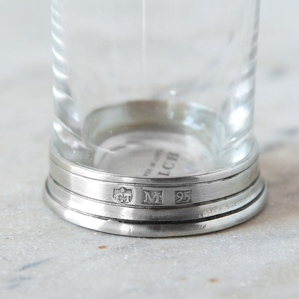crystal & pewter neat shot glass-kitchen & dining - bar & drinkware - special-match-k colette