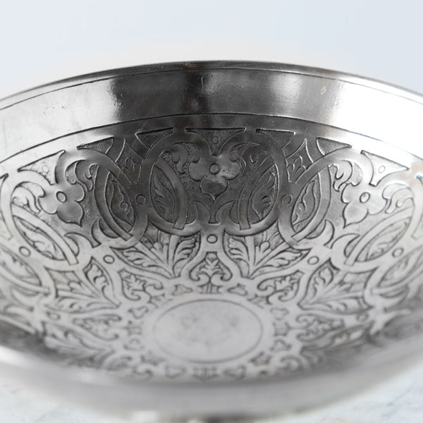 pewter venezia pedestal bowl-kitchen & dining - serveware - love-match-k colette