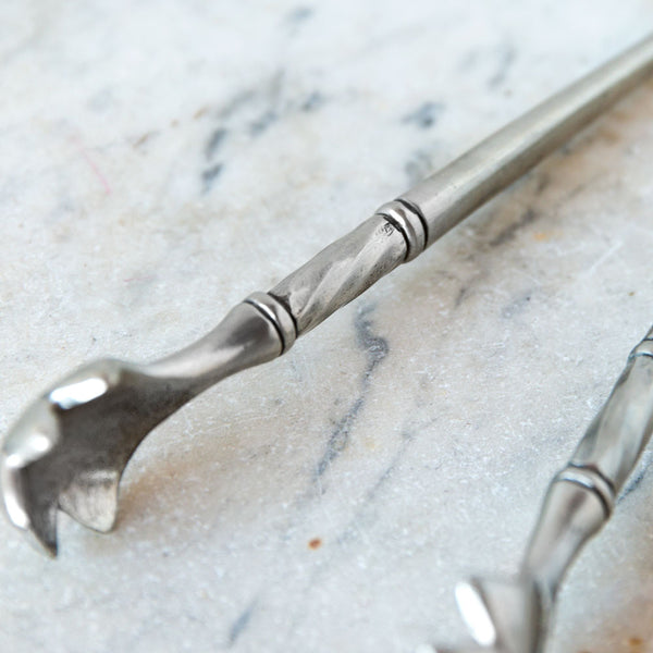 pewter ice tongs-kitchen & dining - bar & drinkware-match-k colette