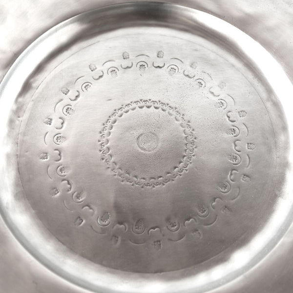 engraved round pewter serving tray-kitchen & dining - serveware - love - thank-match-k colette