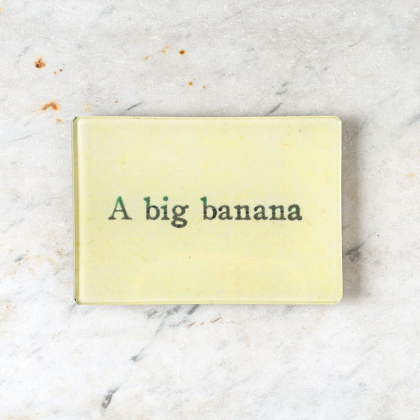 a big banana tiny tray-art & decor - decoupage-john derian-k colette