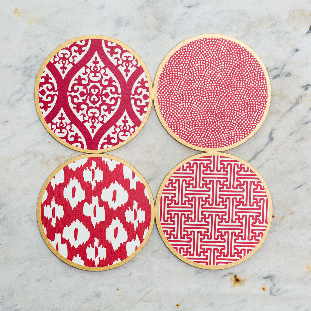 hardwood coasters-kitchen & dining - bar & drinkware - special-holly stuart designs-syrah mix-k colette