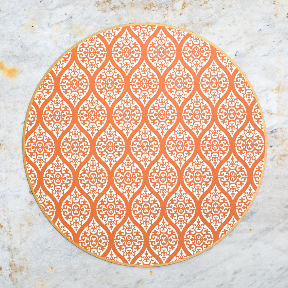 hardwood placemat-kitchen & dining - dinnerware - sale-holly stuart designs-paprika persia-k colette