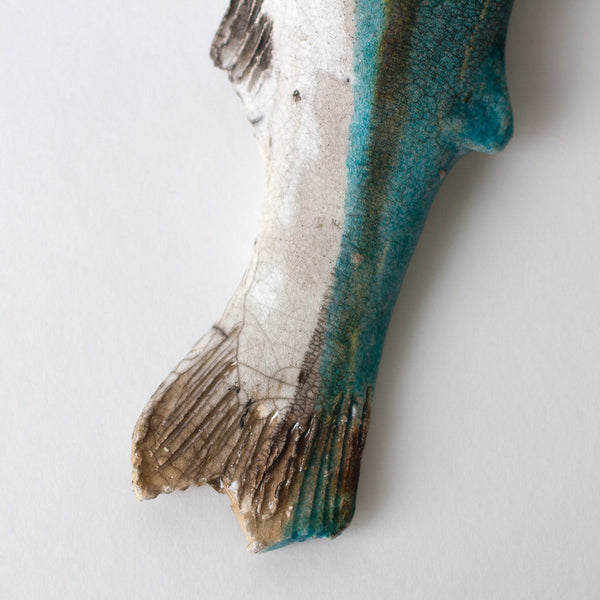 blue trout ceramic fish-art & decor - decorative objects-atelier du douire-Default-k colette