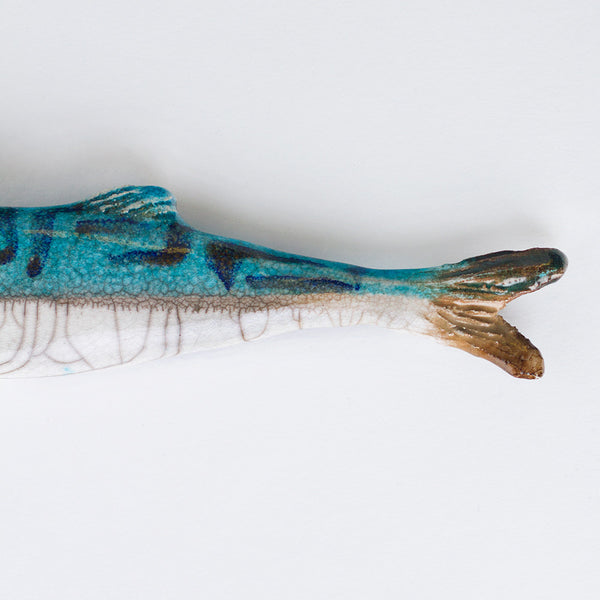 mackerel ceramic fish-art & decor - objets - sea-atelier du douire-k colette