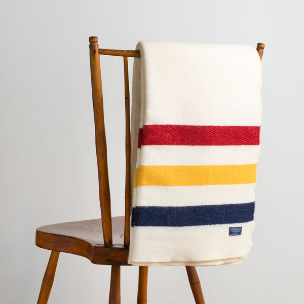 revival stripe wool throw-textiles - throws-faribault woolen mill co.-bone white-k colette