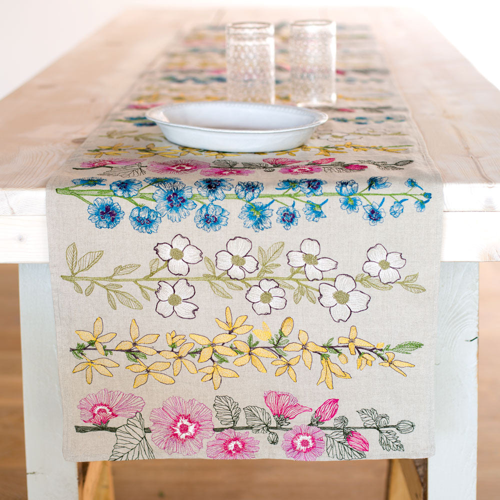 floral table runner-kitchen & dining - table linens-coral & tusk-k colette